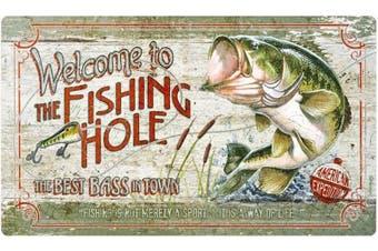 Fishing Hole Series Tempered Glass Cutting Board (Largemouth Bass)