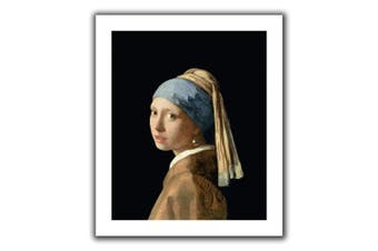 (14x18) - ArtWall Johannes Vermeer 'Girl with a Pearl Earring' Unwrapped Flat Canvas Artwork, 46cm by 60cm