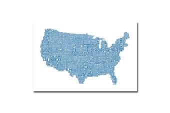 (60cm  by 80cm ) - Trademark Fine Art US City Map XVI by Michael Tompsett Canvas Wall Art, 60cm x 80cm