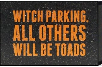 """Artistic Reflections """"Witch parking. All others will be toads"""" Framed Art"""