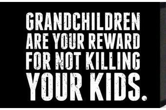 "Artistic Reflections ""Grandchildren are Your reward for not killing Your kids."" Framed Art"