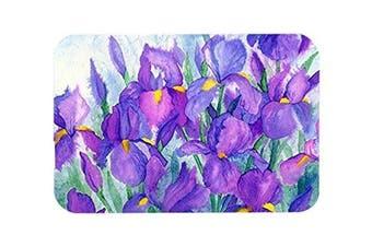 Caroline's Treasures Purple Iris Glass Cutting Board, Large, Multicolor