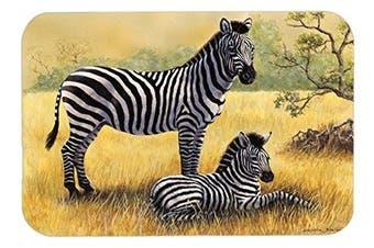 "Caroline's Treasures BDBA0308LCB ""Zebras by Daphne Baxter"" Glass Cutting Board, Large, Multicolor"