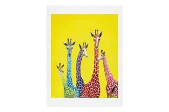 DENY Designs Clara Nilles Jellybean Giraffes Art Print, 8 x 10