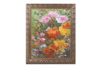 (11x14) - Trademark Fine Art Extravaganza Framed Artwork by Manor Shadian, 28cm by 36cm , Gold Ornate Frame