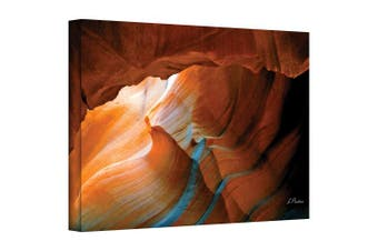 (24x32) - Art Wall Slot Canyon V Gallery Wrapped Canvas Art by Linda Parker, 60cm by 80cm