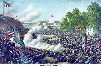 """Buyenlarge 0-587-23252-8-P1218 """"Battle of Corinth, Mississippi"""" Paper Poster, 30cm x 46cm"""