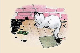 """Buyenlarge 0-587-27312-7-P1218 """"Ready To Pounce"""" Paper Poster, 30cm x 46cm"""