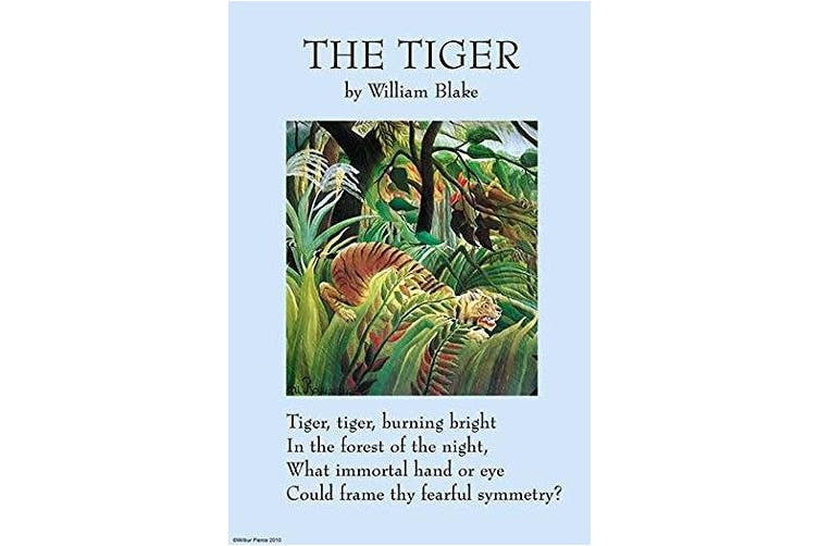 """Buyenlarge 0-587-26967-7-P1218 """"The Tiger"""" Paper Poster, 30cm x 46cm"""
