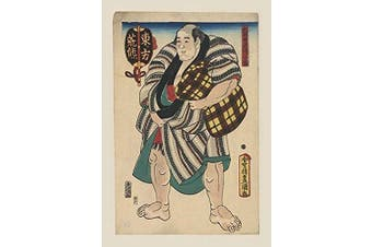 "Buyenlarge 0-587-20404-4-P1218 ""Tired Sumo Wrestler"" Paper Poster, 30cm x 46cm"