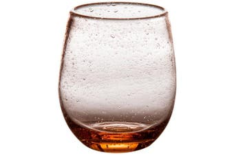 Abigails Stemless Bubble Wine Glass, 3.75 by 9.5cm by 11cm , Light Pink