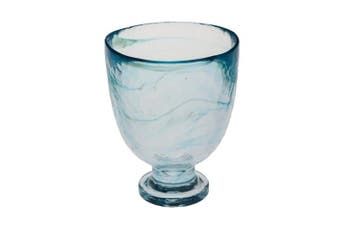 (Aqua) - Abigails Clear Stone Age Red Wine Glass, Aqua