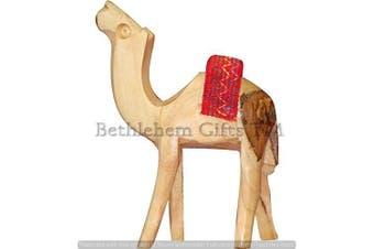 (15cm ) - Handcarved Olive Wood Camel Figurine Statue from Jerusalem by Bethlehem Gifts TM (15cm )