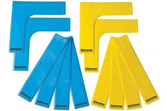 (12 ct Tennis) - Gamma Court Marker Lines, Yellow/Blue