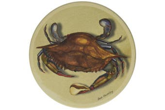 CoasterStone CS1173 Absorbent Coasters, 11cm , Blue Crab, Set of 4