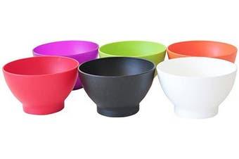(300ml, Assorted Colors) - COZA DESIGN 6-Piece Set Bowl, 300ml, Assorted Colours