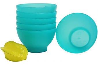 (500ml, Green) - COZA DESIGN Coza 6 Piece Set Bowl, 500ml, Green
