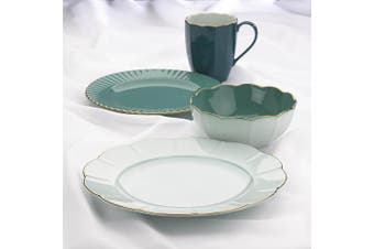 (Dinner Plate, Teal) - Marchesa Shades of Teal Dinner Plate by Lenox