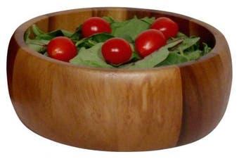 Woodard & Charles Acacia Wood Individual Calabash Salad Bowl, 17cm