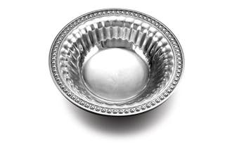 Wilton Armetale Flutes and Pearls Round Snack Bowl, 20cm
