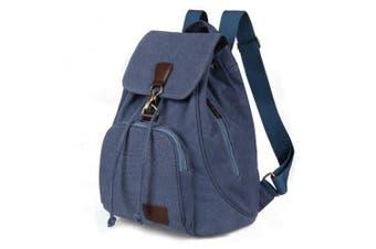 (Blue 10) - Women Ladies Retro Canvas Backpack, WITERY Vintage Design Trendy Rucksack Casual Travel Shoulder Bag / Portable Handbag / College Daypack Backpack / Computer Laptop Bags Blue