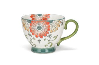Abbott Collection Yellow Flower Handled Cup, Multicolor
