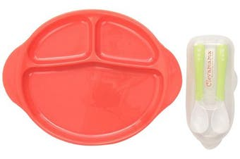 Clevamama Suction Feeding Plate and Two Spoons