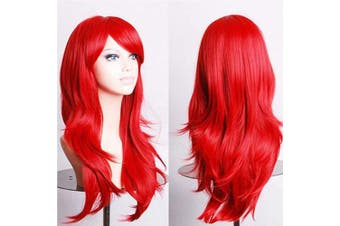 (60cm , Straight, red) - S-noilite® Red Wigs For Women Fancy Dress Cosplay Wigs For Women [ 60cm -Straight / Red ]