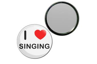 (77mm) - I Love Singing - 77mm Round Compact Mirror