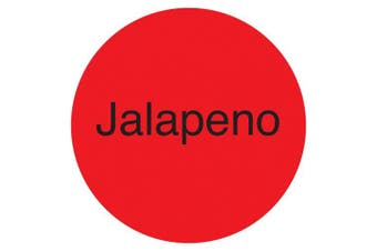 "(Jalepeno, Fluorescent Red) - DayMark IT111233 DuraMark Permanent Circle Deli Label, ""Jalapeno"", 2.5cm Diameter, Fluorescent Red (Roll of 1000)"