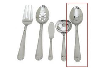 (Serving Spoon) - Ginkgo Bonnie Solid Serving Spoon, Silver