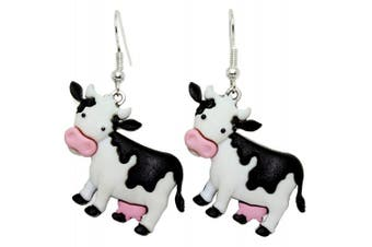 Bluebubble COWS GO MOO Dora Cow Dangle Earrings With Gift Box