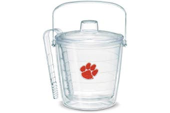 (Clear) - Tervis 1007643 Clemson Tigers Paw Ice Bucket with Emblem and Clear Lid 2570ml Ice Bucket, Clear
