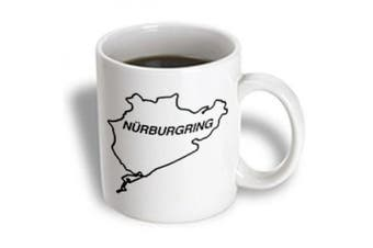 (440ml) - 3dRose mug_159651_2 Nuremburg Track Outline Nurburgring Racetrack Ceramic Mug, 440ml