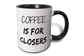 (330ml, Black) - 3dRose 218481_4 Coffee Is For Closers Mug, 330ml, Black