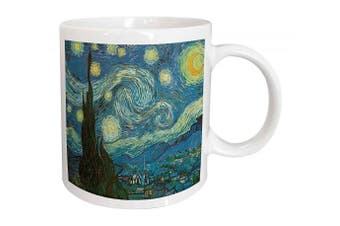 (330ml) - 3dRose mug_128155_1 The Starry Night by Vincent Van Gogh Ceramic Mug, 330ml, White