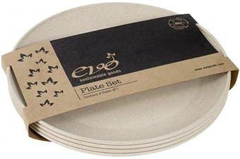 (White) - EVO Sustainable Goods 20cm Plate, Set of Four, White