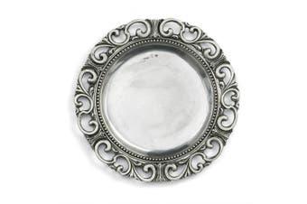 Arte Italica Donatello Charger Plate, Pewter