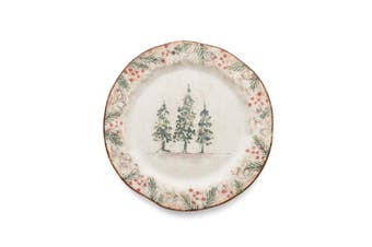 Arte Italica Natale Salad/Dessert Plate, Cream