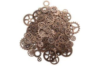 (Copper) - Aokbean 150 Gramme Assorted Vintage Copper Metal Steampunk Jewellery Making Charms Cog Watch Wheel (Copper)
