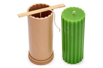 (2) - Сylinder Rif mould - height: 17cm , width: 6.9cm - 9.1m of wick included as a gift - Plastic candle moulds for making candles