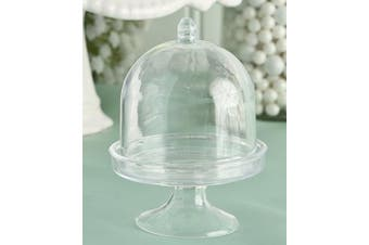 Fashioncraft Cake Stand/Plastic Box from The Perfectly Plain Collection, Mini