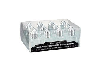 Artland American Diner Salt and Pepper Sets in Gift Box (12 Pack), Mini, Clear