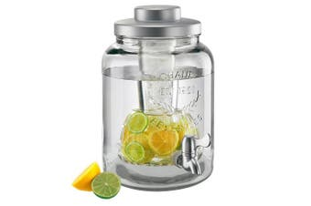 (Clear) - Oasis Beverage Jar 7.6lW/Chiller & Infuser, Clear