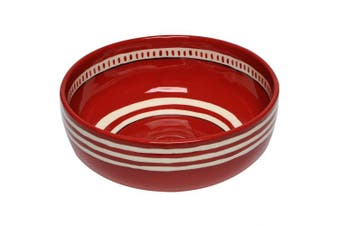 (Red) - Thompson & Elm M. Bagwell Colours Ceramic Serving Bowl, Red