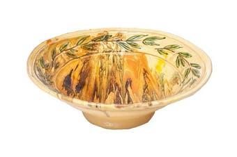 Abigails Le Moulin Marble Serving Bowl, Olive
