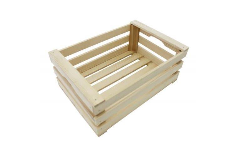 Paderno World Cuisine A4982263 Beechwood Display Crate, Beige