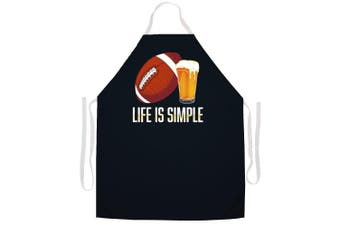 Attitude Aprons 2451 Life is Simple Football Apron