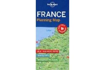 Lonely Planet France Planning Map (Map)