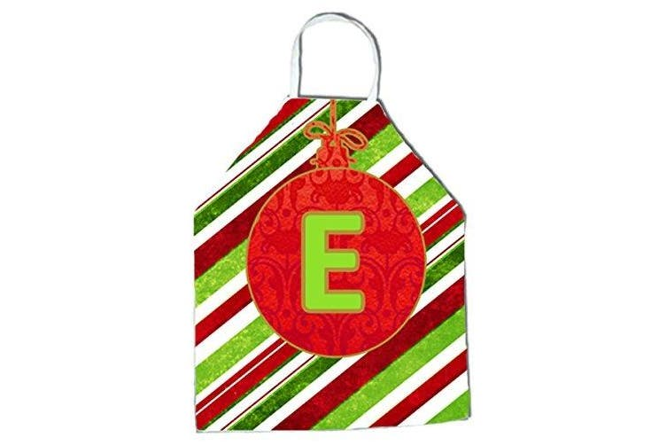 Caroline S Treasures Cj1039 Eapron Christmas Ornament Holiday Initial Letter E Apron Large Multicolor Matt Blatt